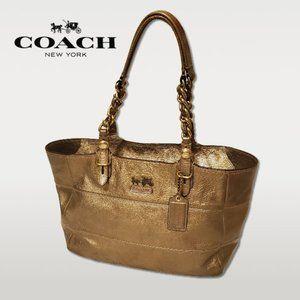 Coach Gold Patent Madison Tribeca Shoulder Bag